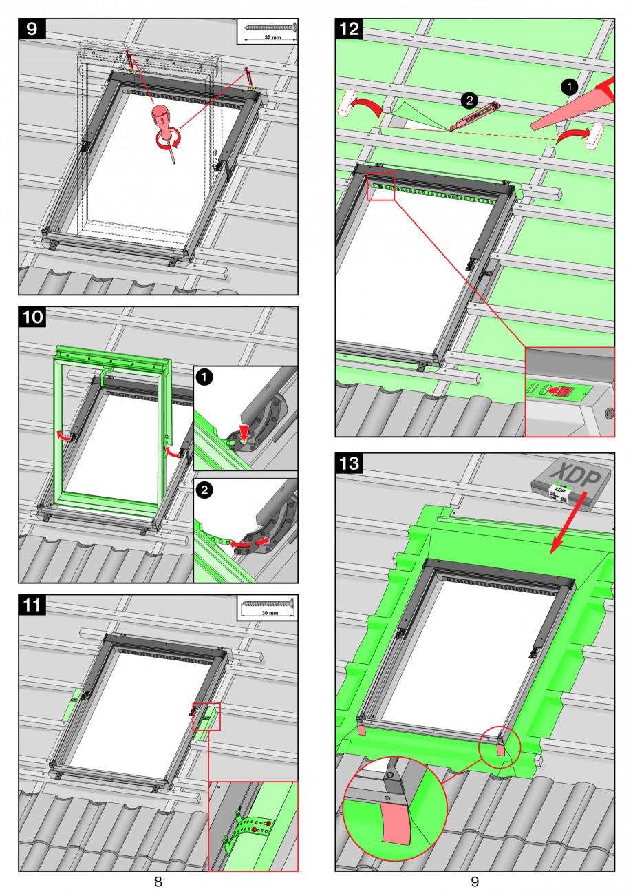 Pagina 5 - Ferestre de mansarda cu articulare mediana FAKRO PTP-V Instructiuni montaj, utilizare