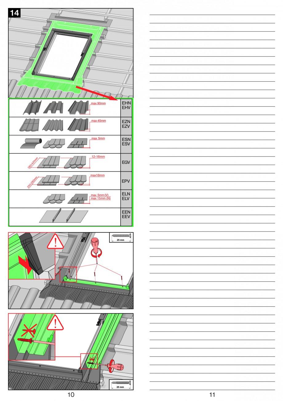 Pagina 6 - Ferestre de mansarda cu articulare mediana FAKRO PTP-V Instructiuni montaj, utilizare