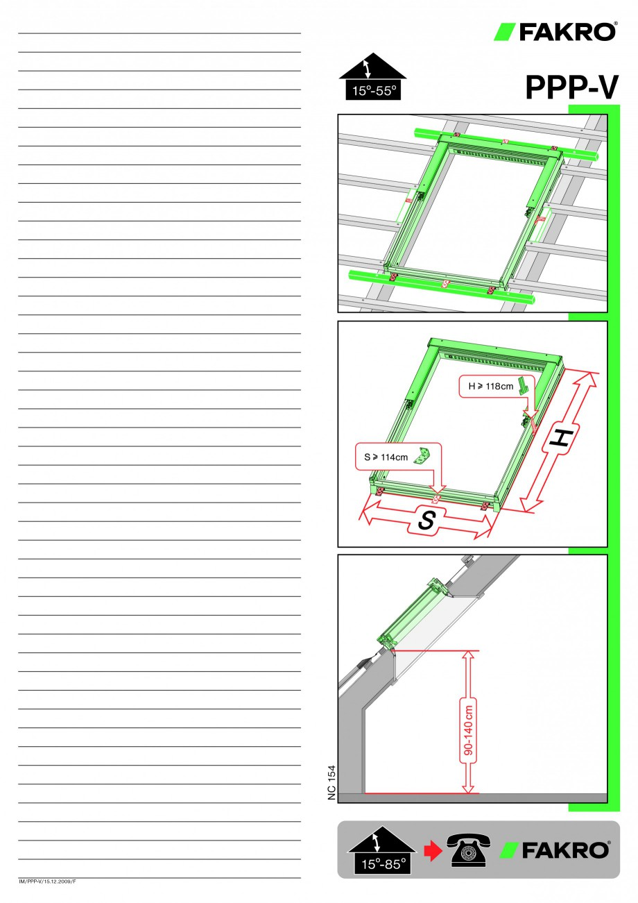 Pagina 1 - Ferestre de mansarda cu dubla articulare FAKRO PPP-V preSelect Instructiuni montaj,...