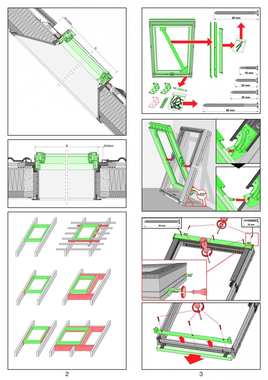 Pagina 2 - Ferestre de mansarda cu dubla articulare FAKRO PPP-V preSelect Instructiuni montaj,...