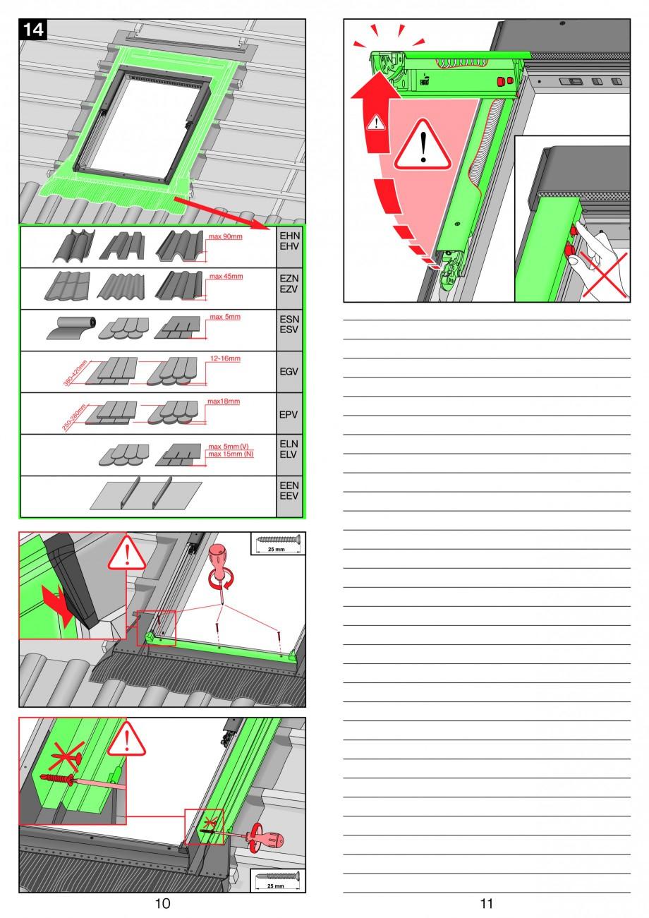 Pagina 6 - Ferestre de mansarda cu dubla articulare FAKRO PPP-V preSelect Instructiuni montaj,...
