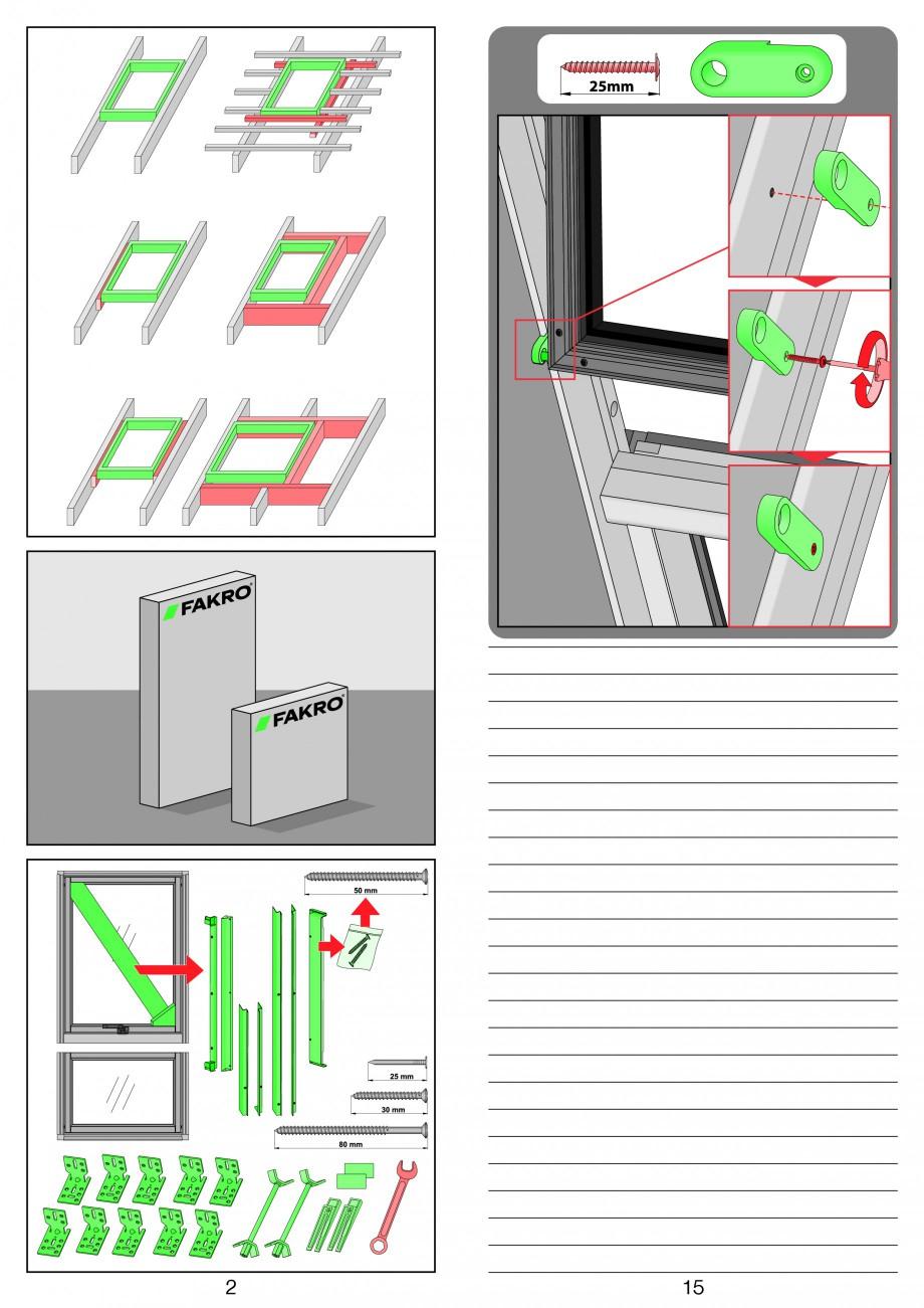 Pagina 2 - Ferestre de mansarda superinalte FAKRO FDY-V Duet proSky Instructiuni montaj, utilizare e...