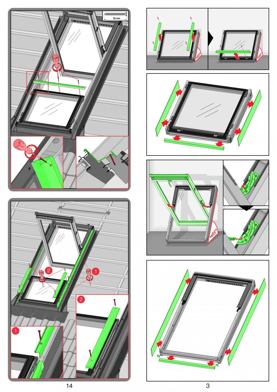 Pagina 3 - Ferestre de mansarda superinalte FAKRO FDY-V Duet proSky Instructiuni montaj, utilizare n...