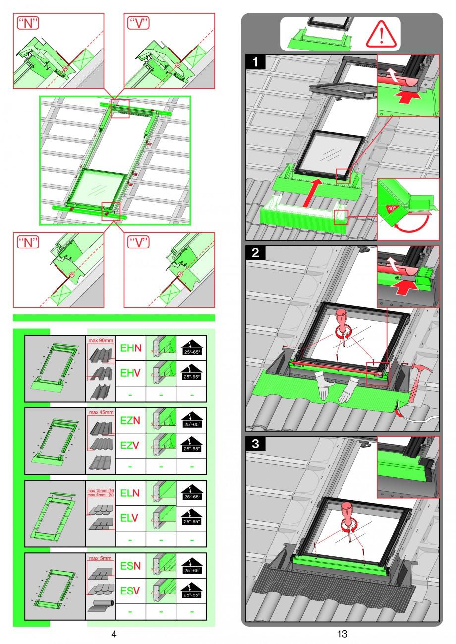 Pagina 4 - Ferestre de mansarda superinalte FAKRO FDY-V Duet proSky Instructiuni montaj, utilizare...