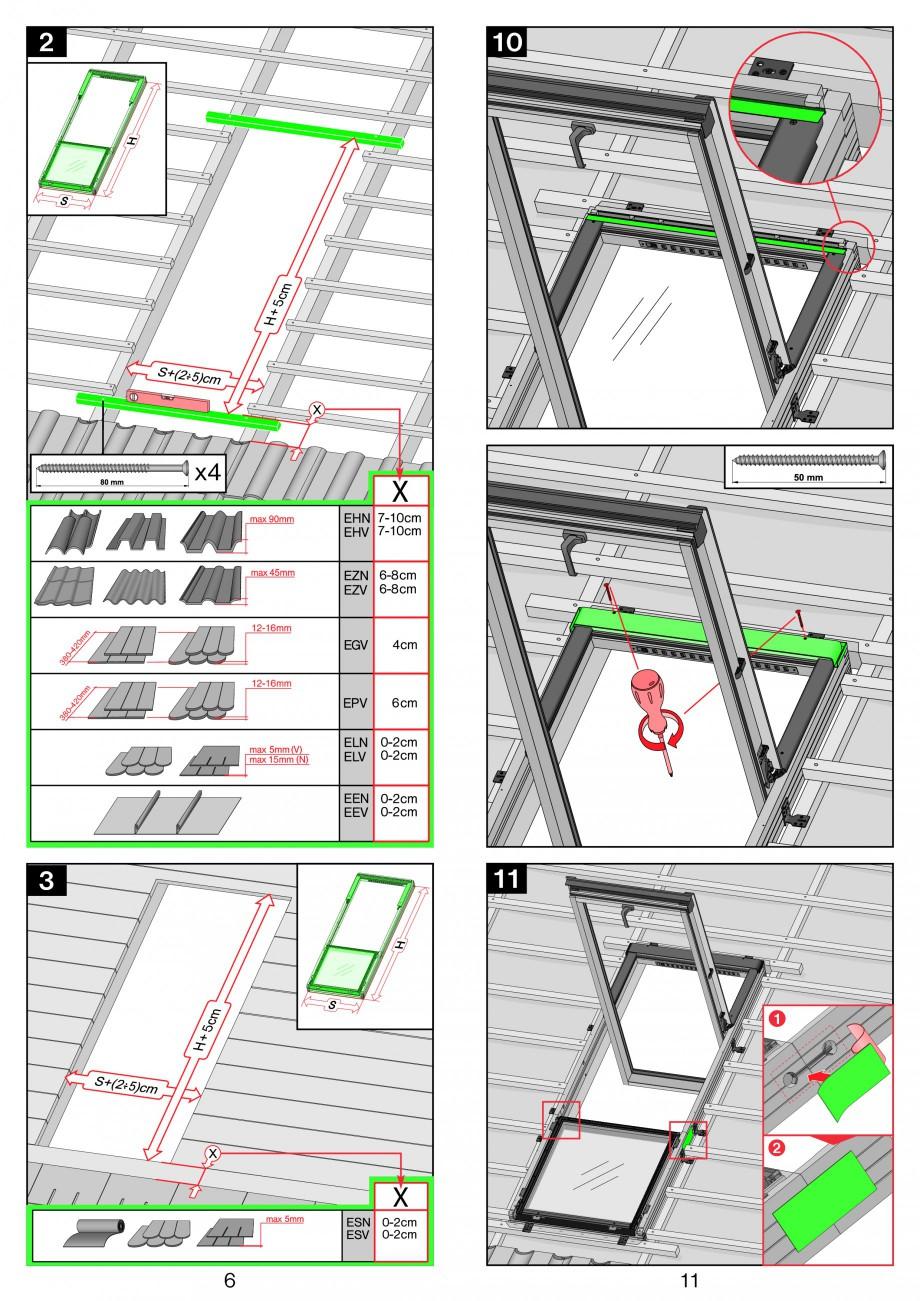 Pagina 6 - Ferestre de mansarda superinalte FAKRO FDY-V Duet proSky Instructiuni montaj, utilizare
