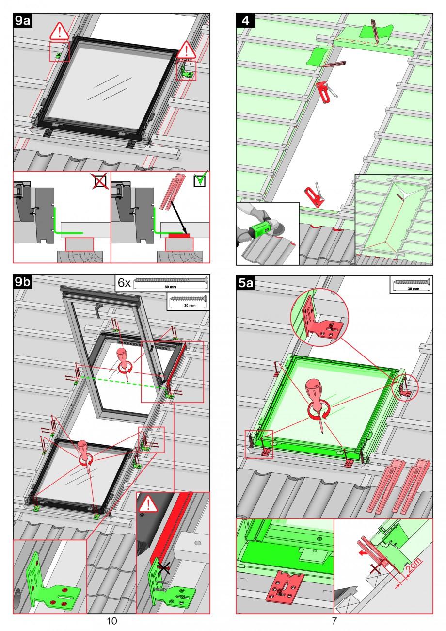 Pagina 7 - Ferestre de mansarda superinalte FAKRO FDY-V Duet proSky Instructiuni montaj, utilizare