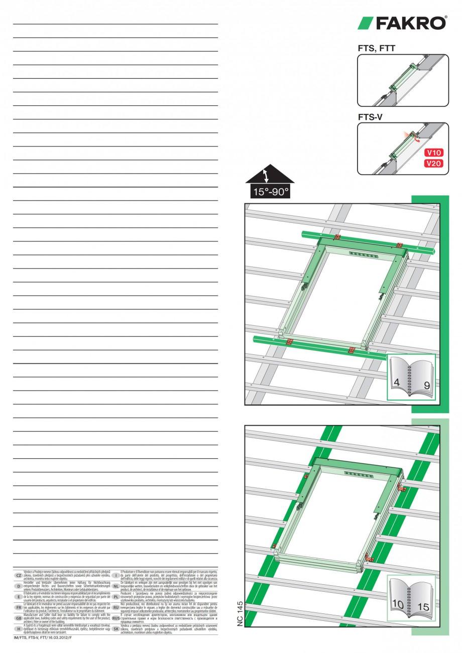 Pagina 1 - Ferestre de mansarda cu articulare mediana FAKRO Instructiuni montaj, utilizare