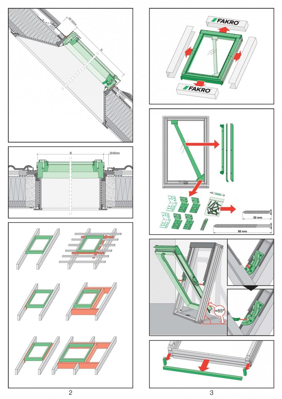 Pagina 2 - Ferestre de mansarda cu articulare mediana FAKRO Instructiuni montaj, utilizare