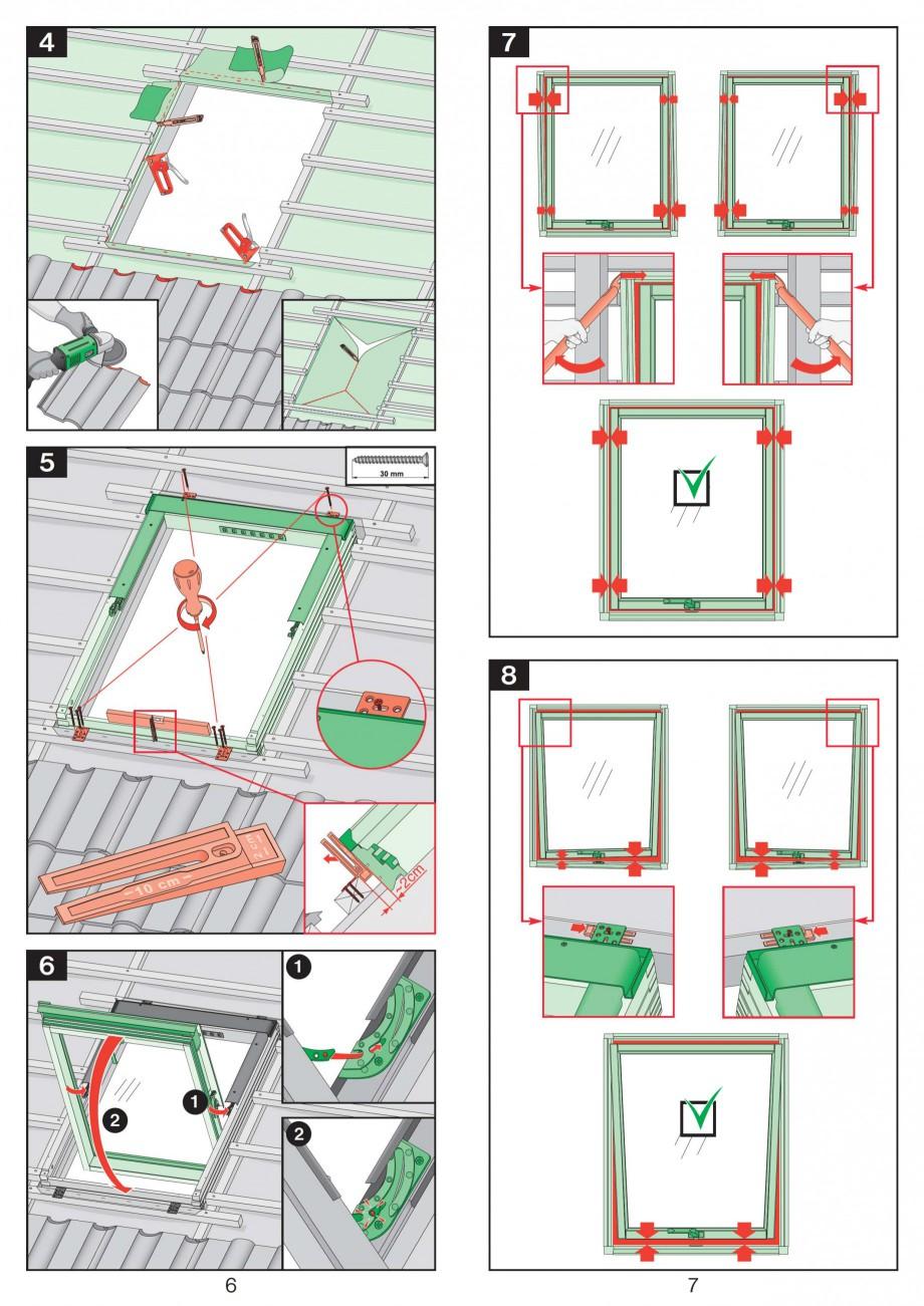 Pagina 4 - Ferestre de mansarda cu articulare mediana FAKRO Instructiuni montaj, utilizare