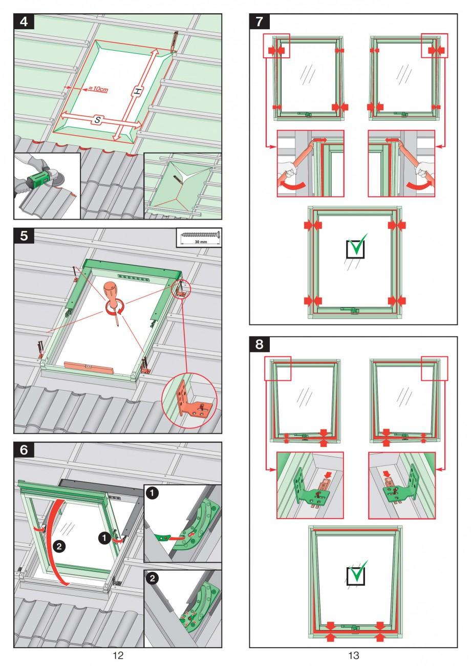 Pagina 7 - Ferestre de mansarda cu articulare mediana FAKRO Instructiuni montaj, utilizare