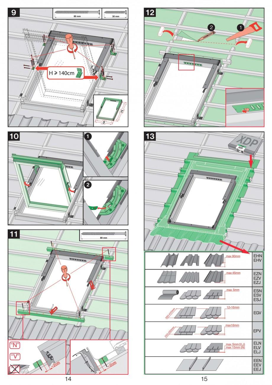 Pagina 8 - Ferestre de mansarda cu articulare mediana FAKRO Instructiuni montaj, utilizare