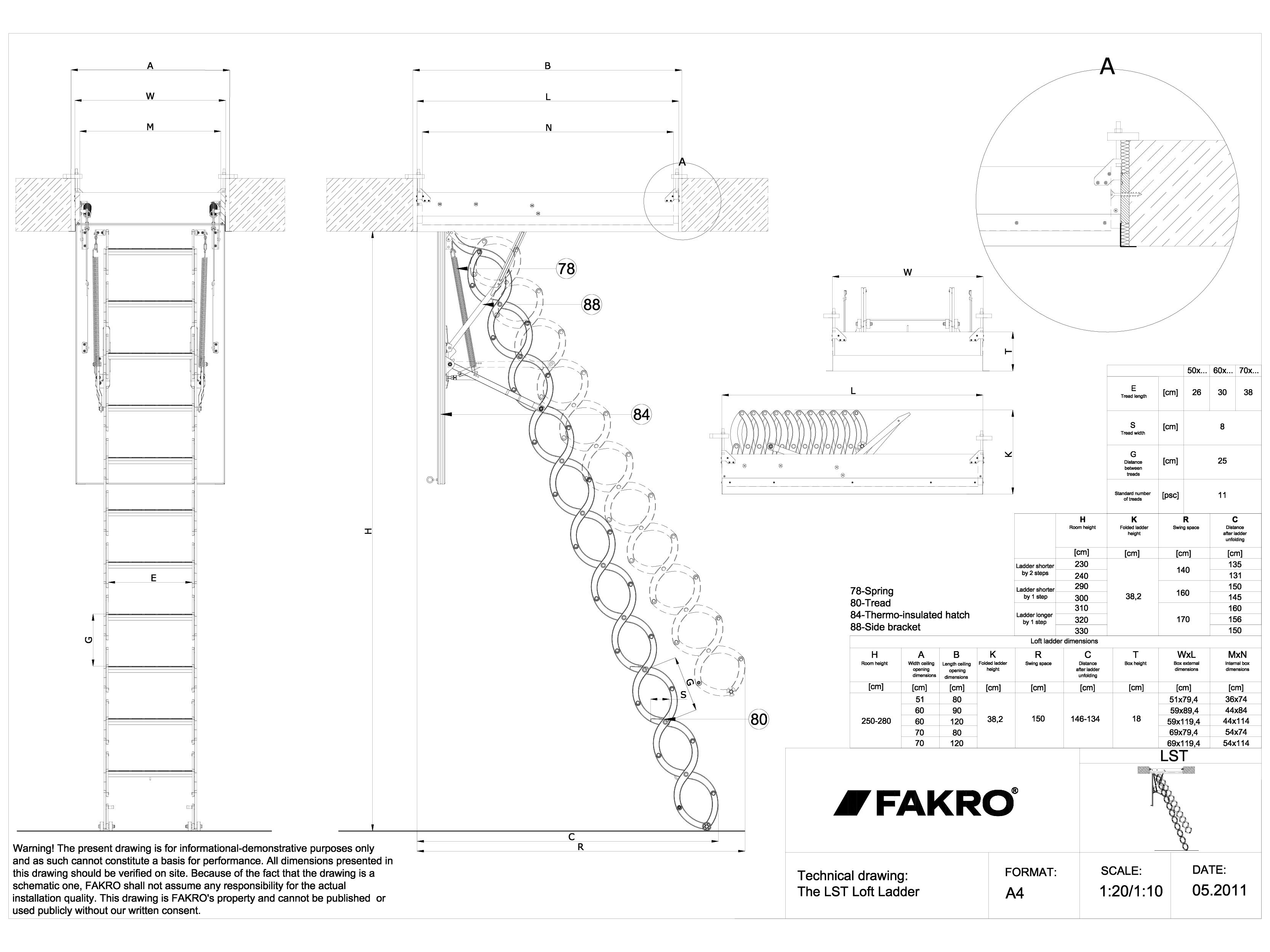 Pagina 1 - CAD-DWG Scara modulara din lemn FAKRO Detaliu de produs LST