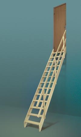 Scara universala din lemn de molid FAKRO - Poza 6