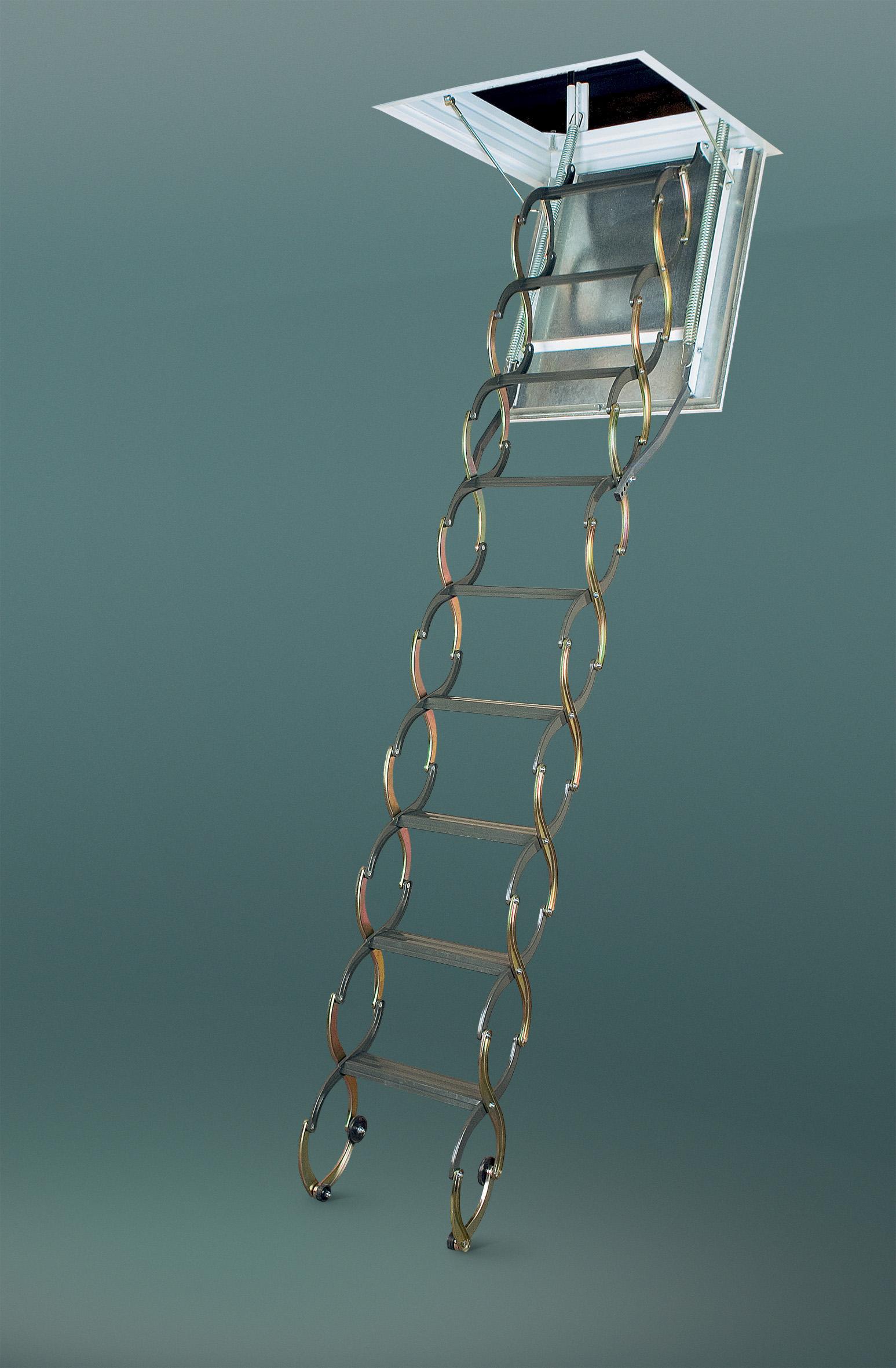 Scari pantograf metalice pentru acces la pod FAKRO - Poza 6