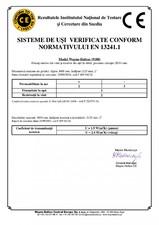 Certificat usi de garaj Wayne Dalton