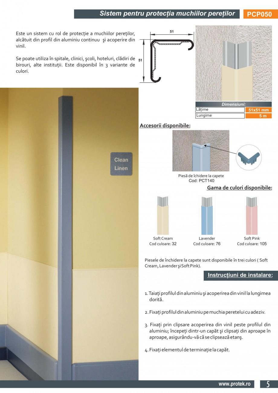 Pagina 3 - Sistem pentru protectia muchiilor peretilor (51x51mm)  PROTEK PCP050 Fisa tehnica Engleza...