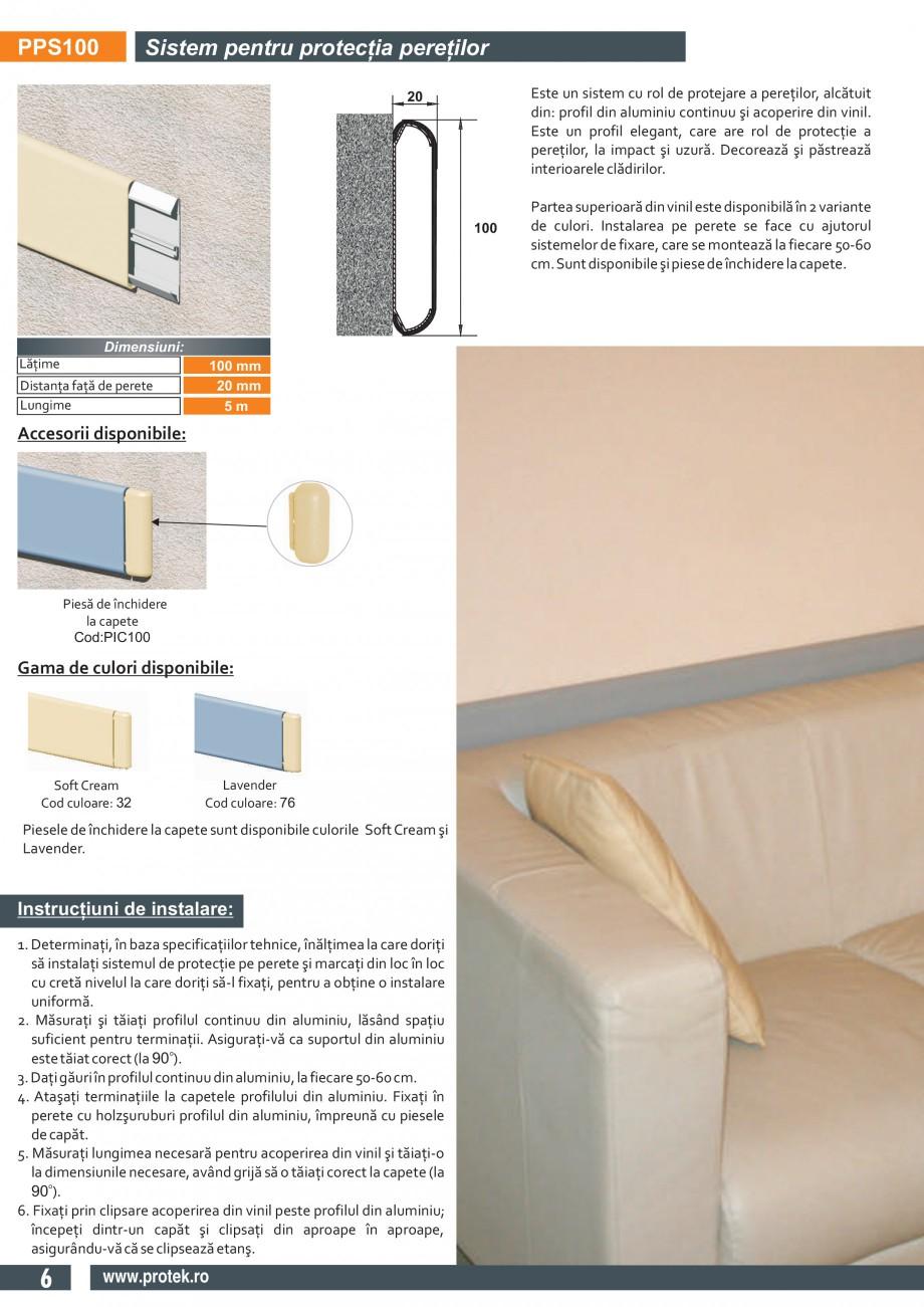 Pagina 3 - Sistem pentru protectia peretilor (100 mm) PROTEK PPS100/ PPS150 Fisa tehnica Engleza...