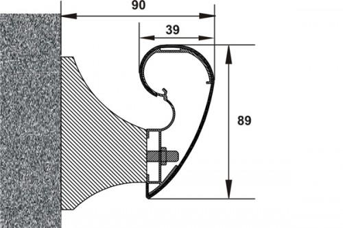Prezentare produs Detaliu sistem de mana curenta - latime 89 mm PROTEK - Poza 1