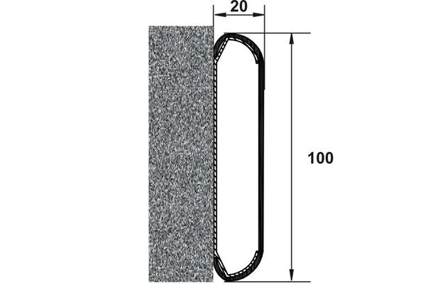 Detaliu sistem pentru protectia peretilor  PROTEK - Poza 2