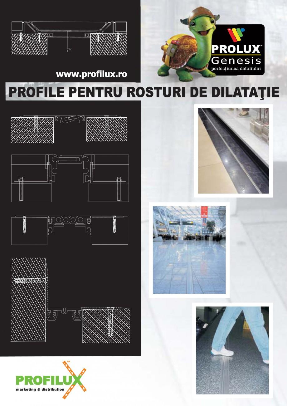 Pagina 1 - Profile pentru rosturi de dilatatie PROLUX MLB100, GOA603, GOA803, SCG002, MSA100, MSA125...