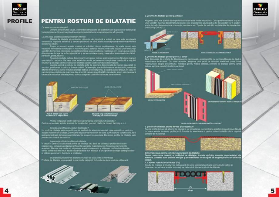 Pagina 3 - Profile pentru rosturi de dilatatie PROLUX MLB100, GOA603, GOA803, SCG002, MSA100, MSA125...