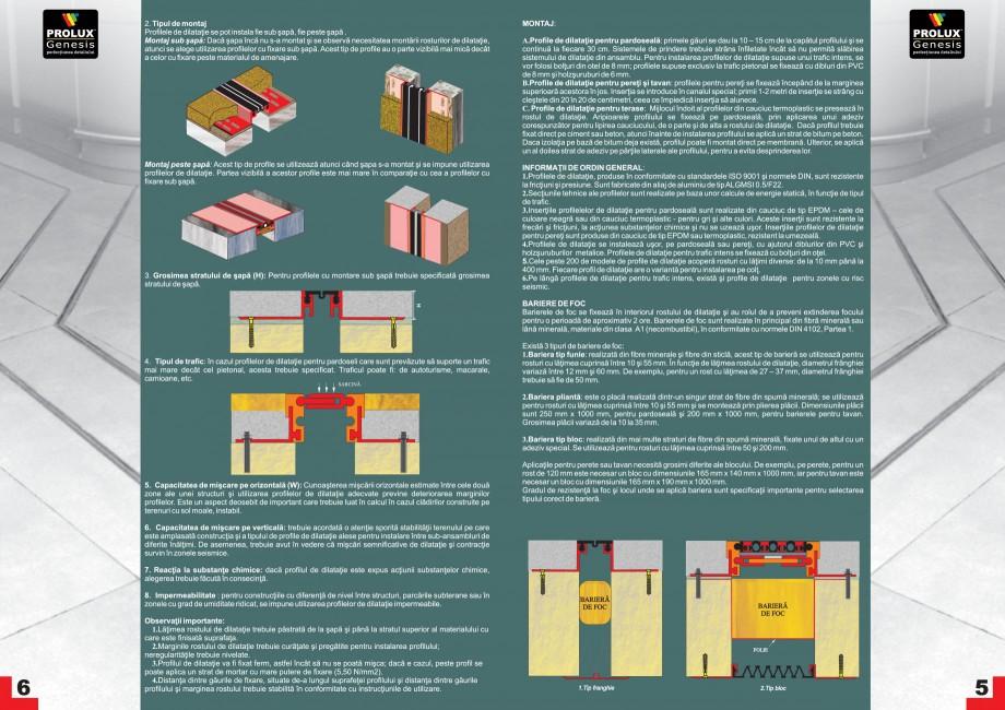 Pagina 4 - Profile pentru rosturi de dilatatie PROLUX MLB100, GOA603, GOA803, SCG002, MSA100, MSA125...