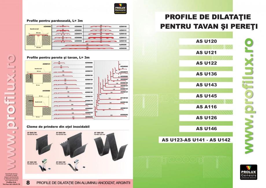 Pagina 5 - Profile pentru rosturi de dilatatie PROLUX MLB100, GOA603, GOA803, SCG002, MSA100, MSA125...
