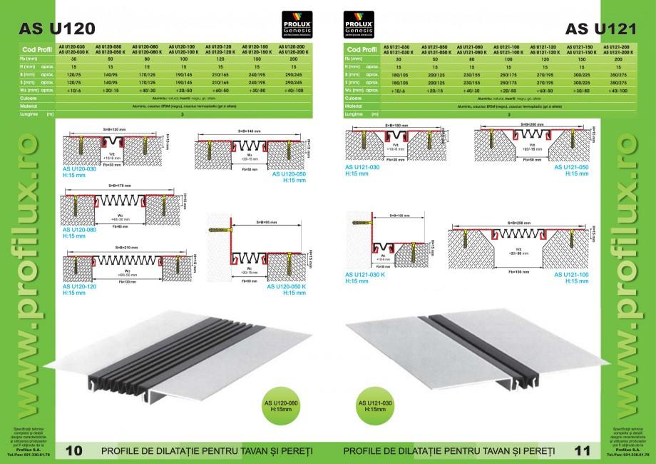 Pagina 6 - Profile pentru rosturi de dilatatie PROLUX MLB100, GOA603, GOA803, SCG002, MSA100, MSA125...