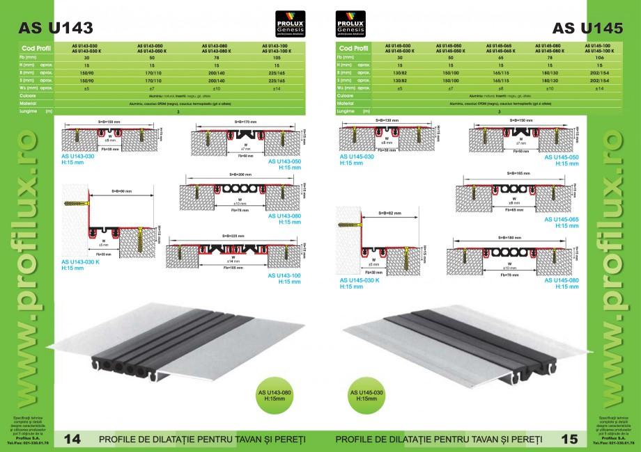 Pagina 8 - Profile pentru rosturi de dilatatie PROLUX MLB100, GOA603, GOA803, SCG002, MSA100, MSA125...