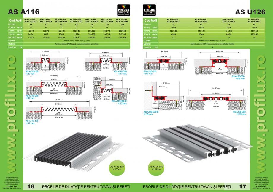 Pagina 9 - Profile pentru rosturi de dilatatie PROLUX MLB100, GOA603, GOA803, SCG002, MSA100, MSA125...