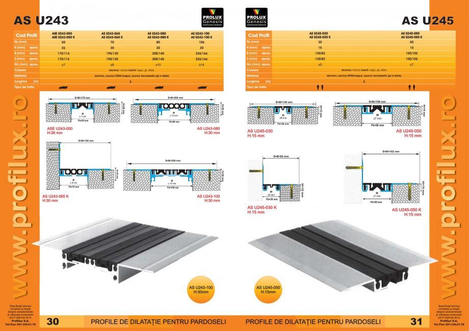 Pagina 16 - Profile pentru rosturi de dilatatie PROLUX MLB100, GOA603, GOA803, SCG002, MSA100,...
