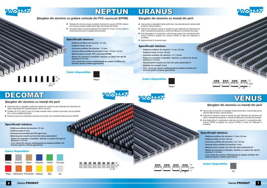 Pagina 4 - Stergatoare de picioare - sistem deschis PROMAT JUPITER, NEPTUN, URANUS, DECOMAT, SATURN,...