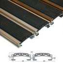 Stergator din aluminiu cu insertii din cauciuc EPDM - Hera | Stergatoare de picioare |