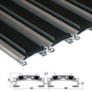 Stergator din aluminiu cu insertii din cauciuc EPDM si perii - Ares | Stergatoare de picioare |
