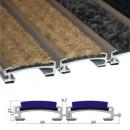 Stergator din aluminiu cu insertii din mocheta de trafic - Apollo | Stergatoare de picioare |