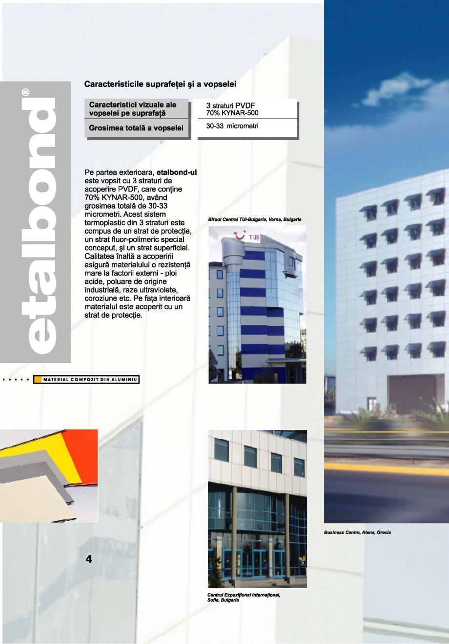 Pagina 4 - Panouri compozite din aluminiu pentru fatade ETALBOND etalbond® Catalog, brosura...
