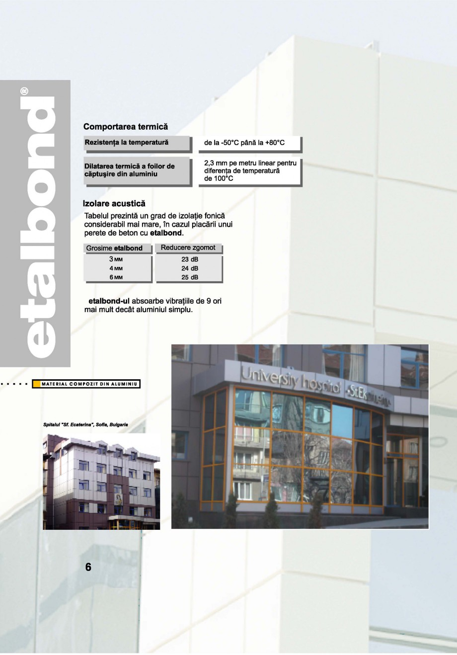 Pagina 6 - Panouri compozite din aluminiu pentru fatade ETALBOND etalbond® Catalog, brosura...