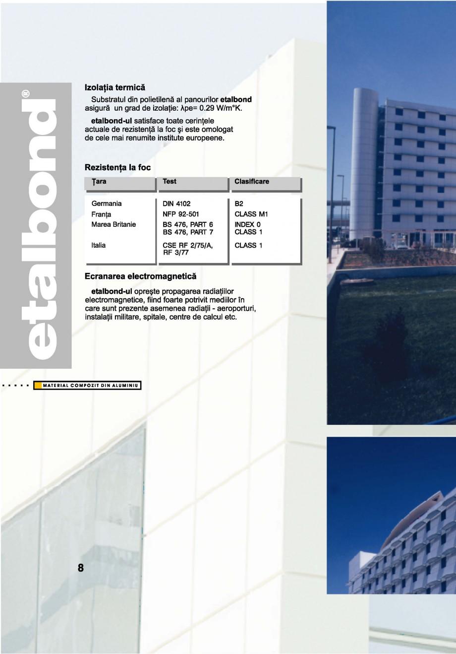 Pagina 8 - Panouri compozite din aluminiu pentru fatade ETALBOND etalbond® Catalog, brosura...