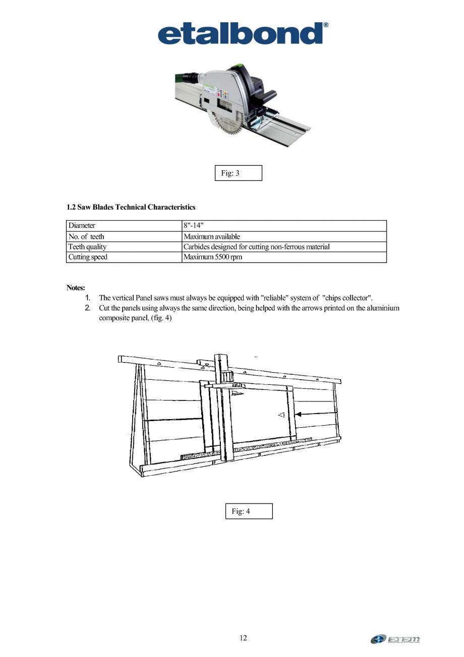 Pagina 3 - Prelucrarea panourilor compozite din aluminiu ETALBOND etalbond ® light, etalbond...
