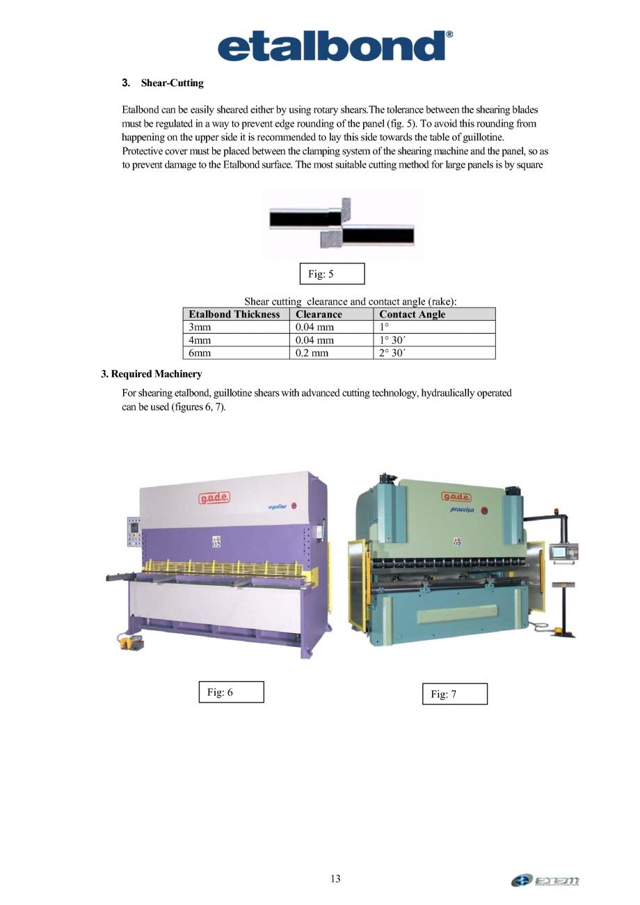 Pagina 4 - Prelucrarea panourilor compozite din aluminiu ETALBOND etalbond ® light, etalbond...