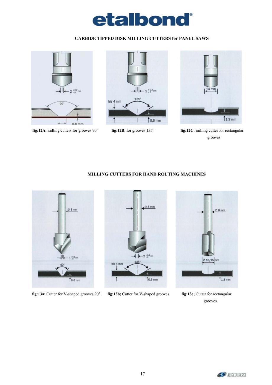 Pagina 8 - Prelucrarea panourilor compozite din aluminiu ETALBOND etalbond ® light, etalbond...