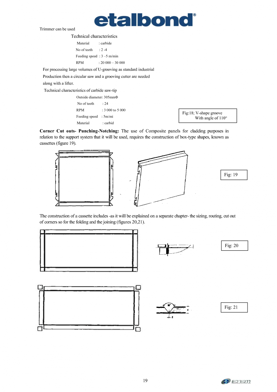 Pagina 10 - Prelucrarea panourilor compozite din aluminiu ETALBOND etalbond ® light, etalbond...