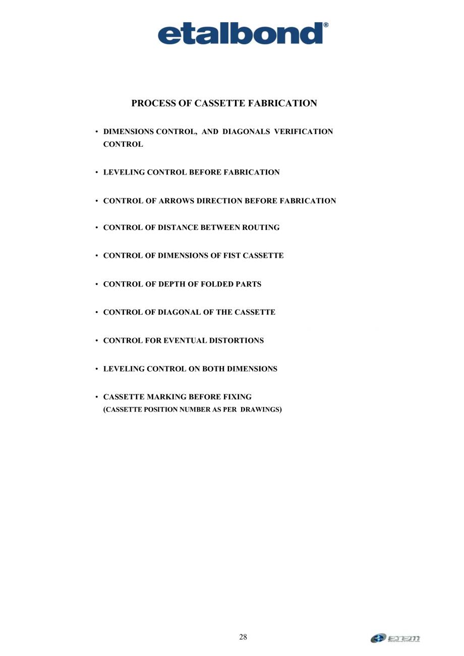 Pagina 19 - Prelucrarea panourilor compozite din aluminiu ETALBOND etalbond ® light, etalbond...