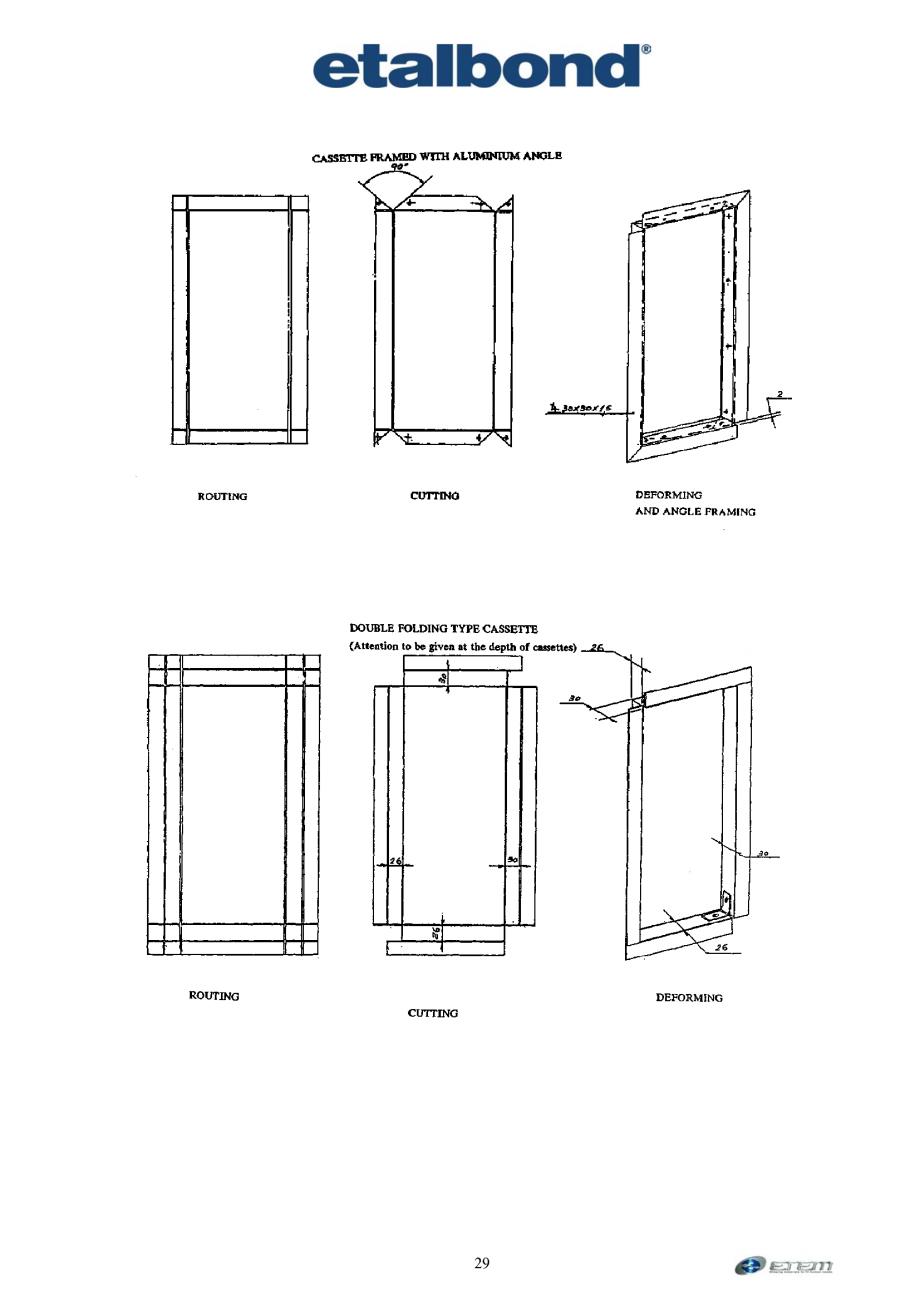 Pagina 20 - Prelucrarea panourilor compozite din aluminiu ETALBOND etalbond ® light, etalbond...