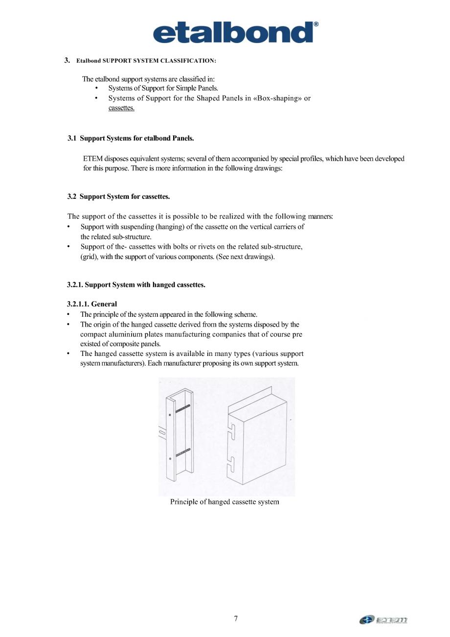 Pagina 3 - Selectia unui sistem suport ETALBOND etalbond® Catalog, brosura Engleza...