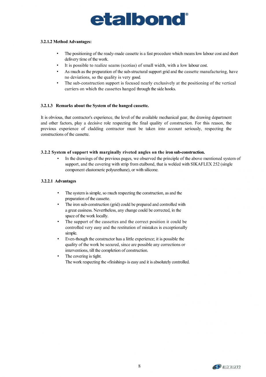 Pagina 4 - Selectia unui sistem suport ETALBOND etalbond® Catalog, brosura Engleza . In case...