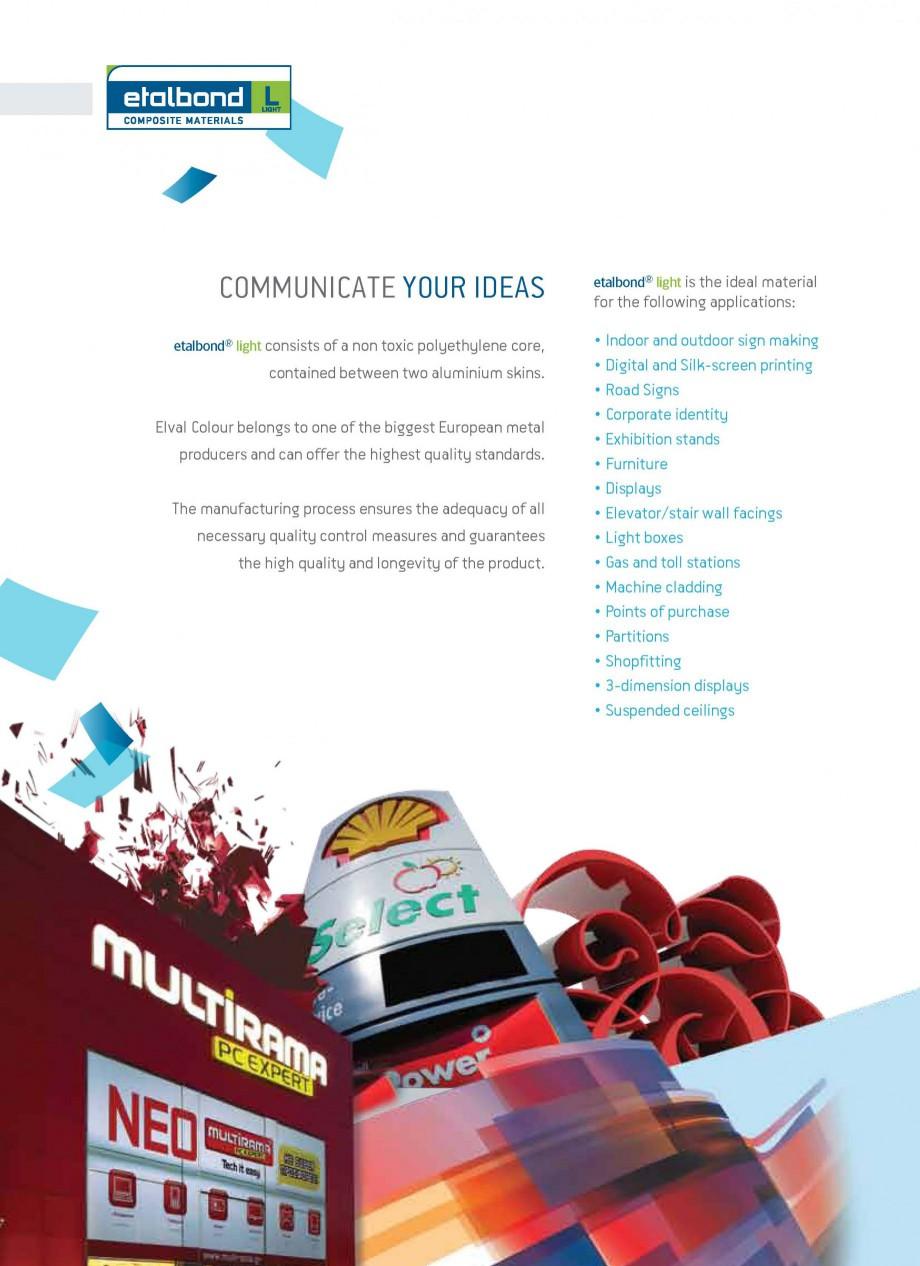Pagina 2 - Panouri compozite din aluminiu pentru fatade ETALBOND etalbond ® light, etalbond ®...