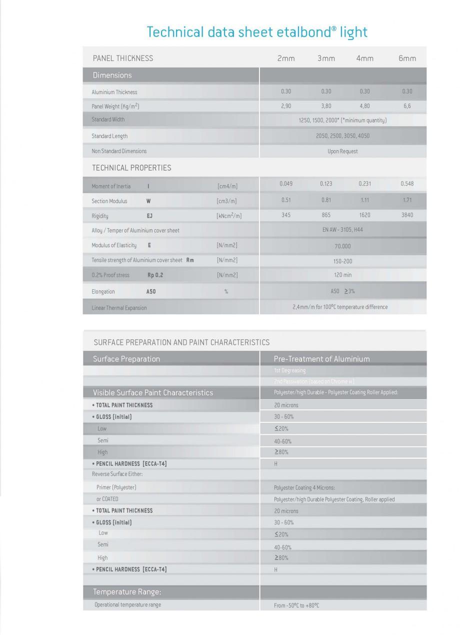 Pagina 7 - Panouri compozite din aluminiu pentru fatade ETALBOND etalbond ® light, etalbond ®...