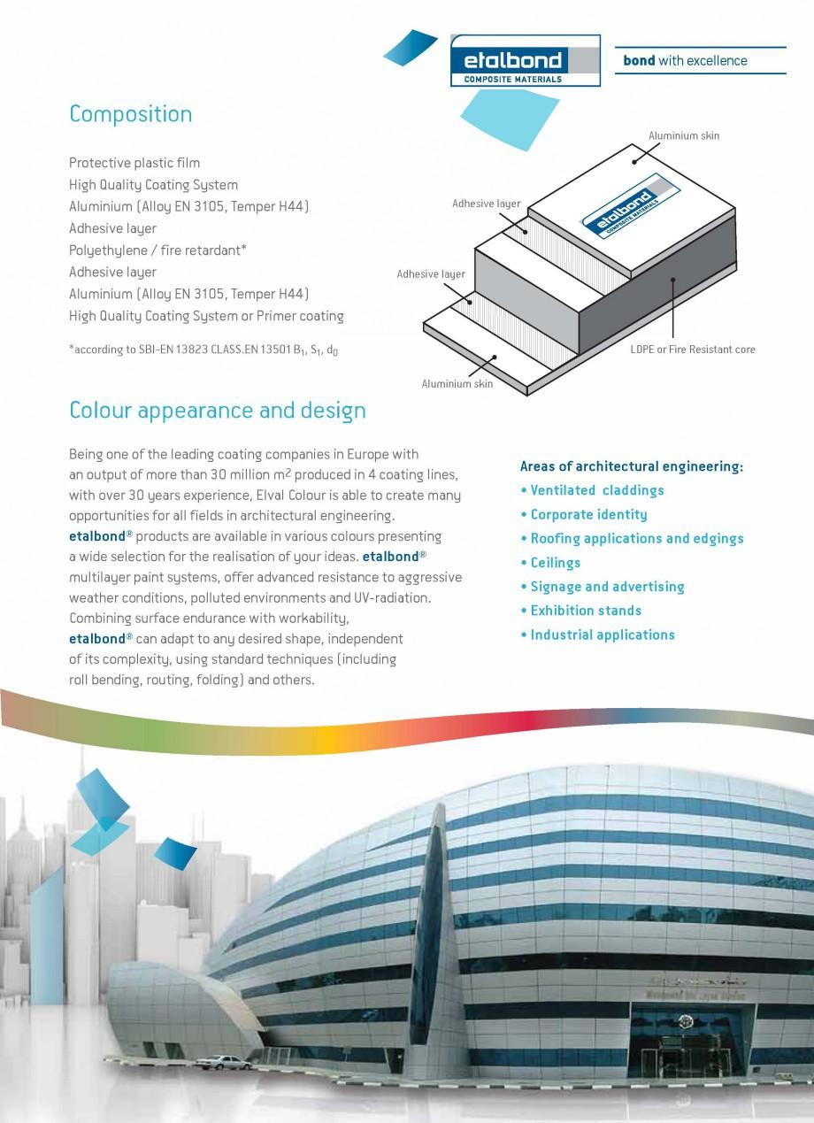 Pagina 3 - Panouri compozite din aluminiu pentru fatade ETALBOND etalbond® Catalog, brosura...