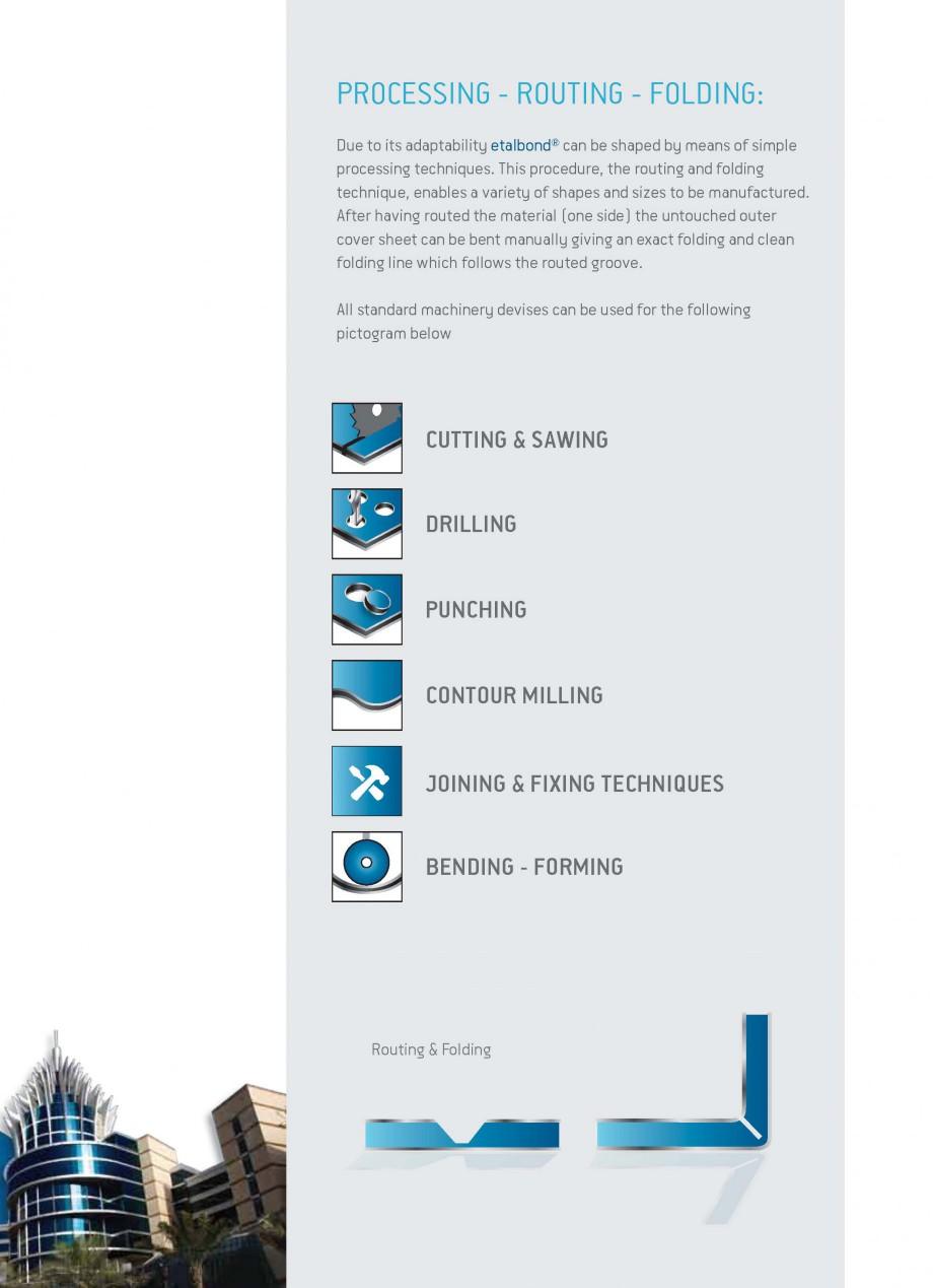 Pagina 5 - Panouri compozite din aluminiu pentru fatade ETALBOND etalbond® Catalog, brosura...
